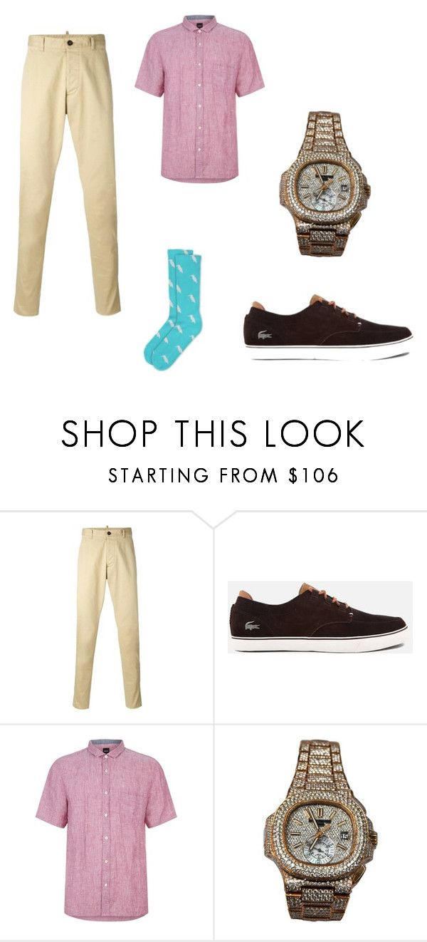 """Summer Style"" by cargo-92 ❤ liked on Polyvore featuring Dsquared2, Lacoste, BOSS Orange, Patek Philippe, men's fashion and menswear"