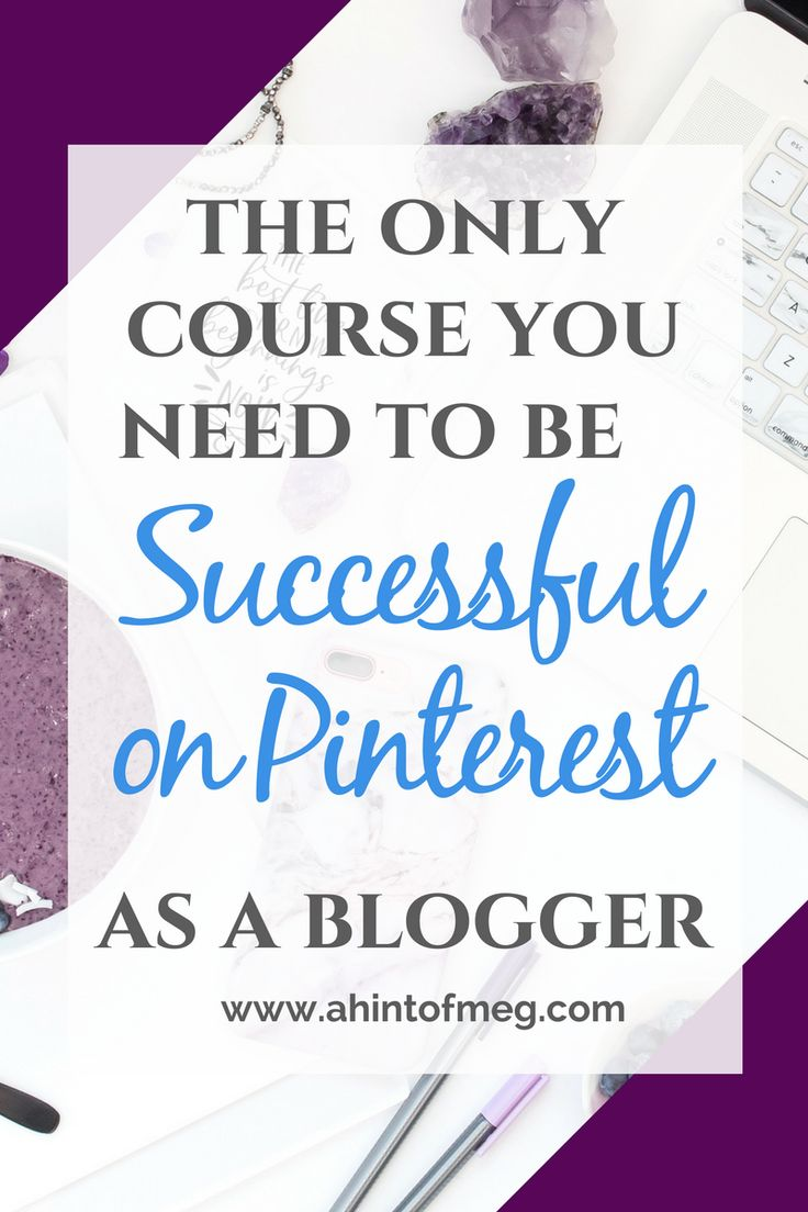 The only course you'll ever need to be successful as a blogger on Pinterest! I struggled with using Pinterest for my blog for a long time, but now Pinterest is my #1 source of traffic for my blog. #pinterestforbloggers #socialmediamarketing #bloggingcourses