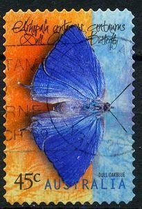 Butterfly Stamp Us Postage Stamps | Image of NEW! Postage Stamp Earrings - Oakblue Butterfly (Australia c ...