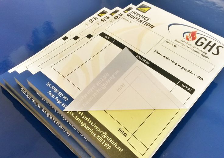 NCR Pads. Designed and printed for GHS. #PrintNottingham #DesignNottingham #NCRNottingham