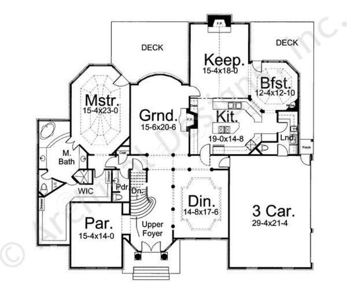 House plan castle