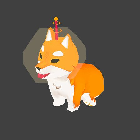 Pchoo - Lowpoly Space Shiba for a thing