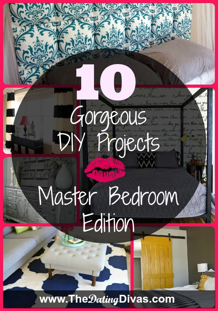 Check out The Dating Divas Roundup of TOP DIY Projects for your Master Bedroom!. www.TheDatingDivas.com #DIYDecor #SoCute #BedroomIdeas