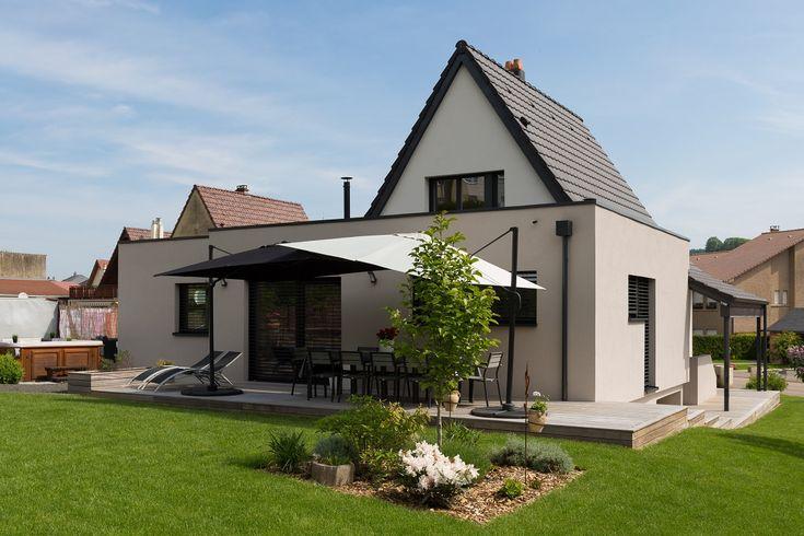 terrasse extension en ossature bois sur maison. Black Bedroom Furniture Sets. Home Design Ideas