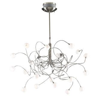 Buy The PLC Lighting 6030 SN Satin Nickel Direct Shop For 20 Light Up Down Chandelier From Fusion