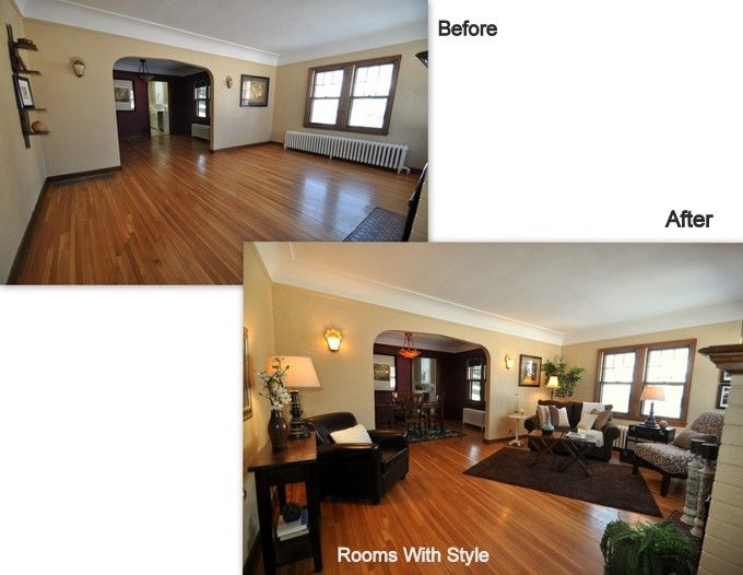 What is your before after before after pinterest for Home staging before and after