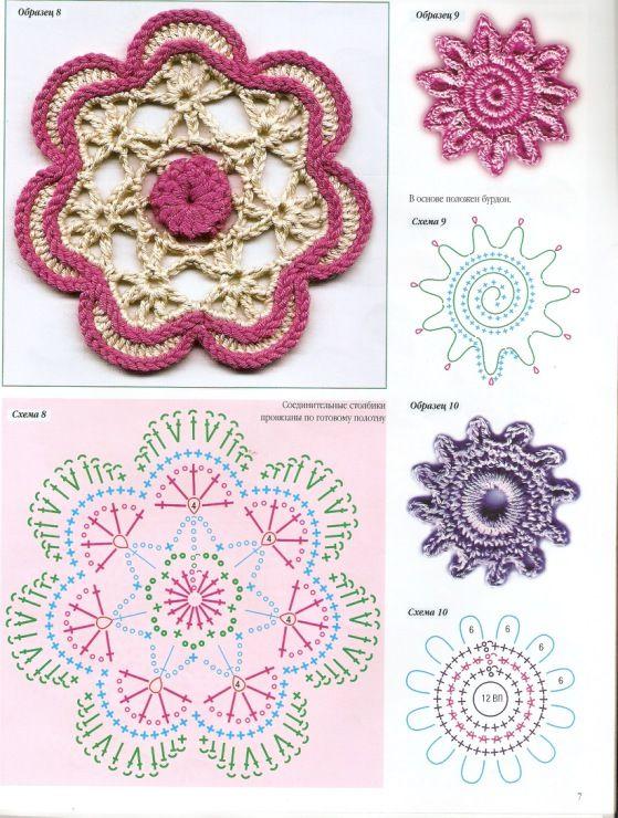 Häkeln Blumen Motive / crochet Flower