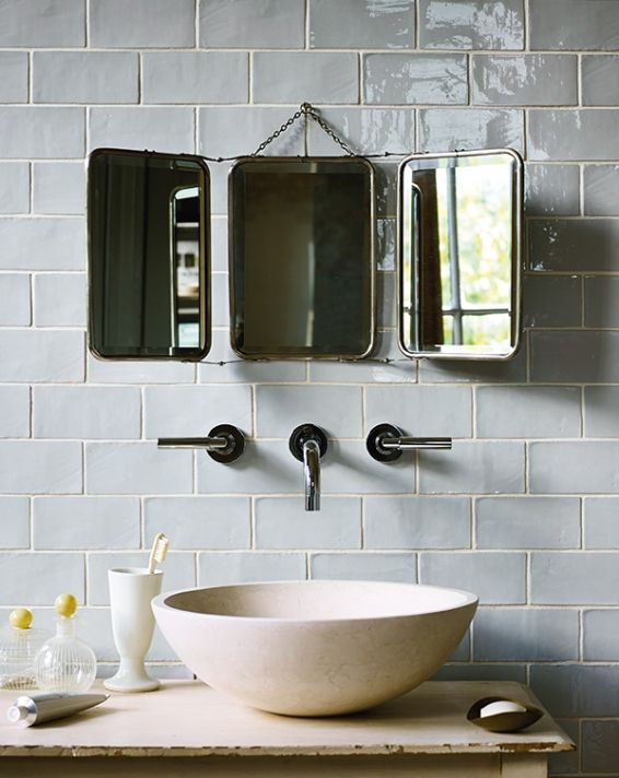 Fired Earth, Forecast Cromarty -- £89.76m2 ~ Tiles are a beautiful colour, light, not too cold a blue/grey.