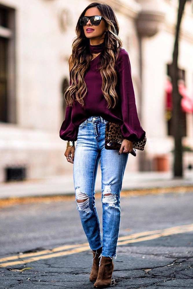Fashion clothes Flare leg jeans Woman fashion