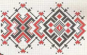 Counted cross stitch pattern - Romanian embroidery