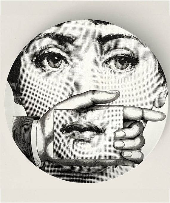 The Card Original Designs Inspired by Fornasetti by TheMadPlatters, $18.00