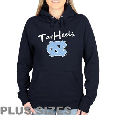 North Carolina Tar Heels (UNC) Plus Sizes Signature Mascot Pullover Hoodie - Navy Blue