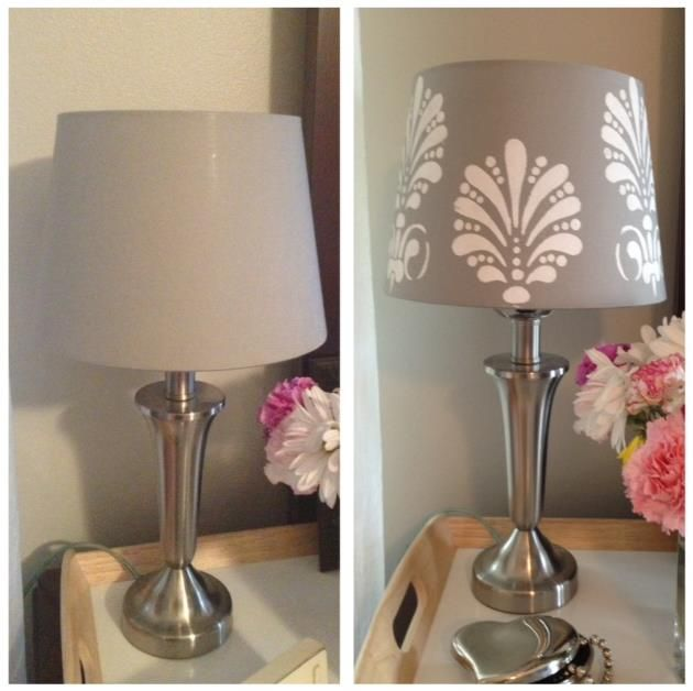Before And After Merging Two Rooms Has Created A Super: $9.99 Ikea Lamp Shade Hack In 2 Easy Steps!