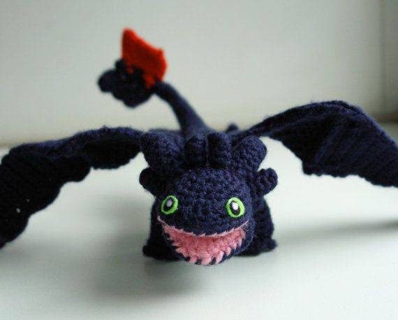 Knitting Pattern Toothless Dragon : 17 Best images about How To Train Your Dragon on Pinterest Hiccup, Dragon c...