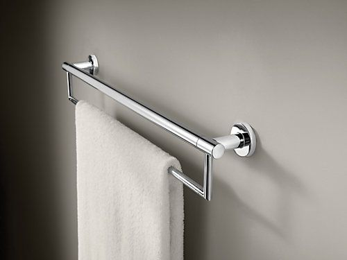 Delta Contemporary 24 Inch Towel Bar Assist Bar Chrome The