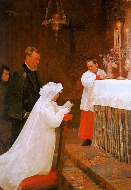 14歳で描いた聖体拝領