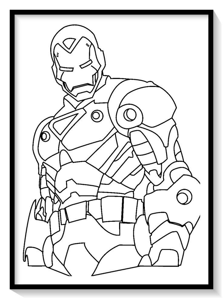 Dibujos de iron man para colorear en linea 💪💪 colorear e
