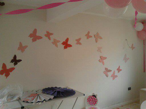 Mariposas cumpleaños niña