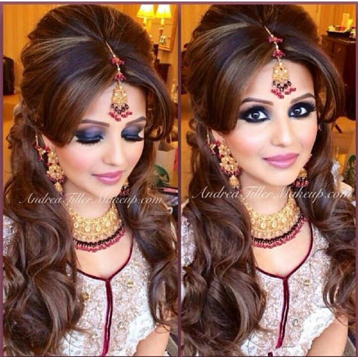 Love this hair style! Possibly for mendhi night!