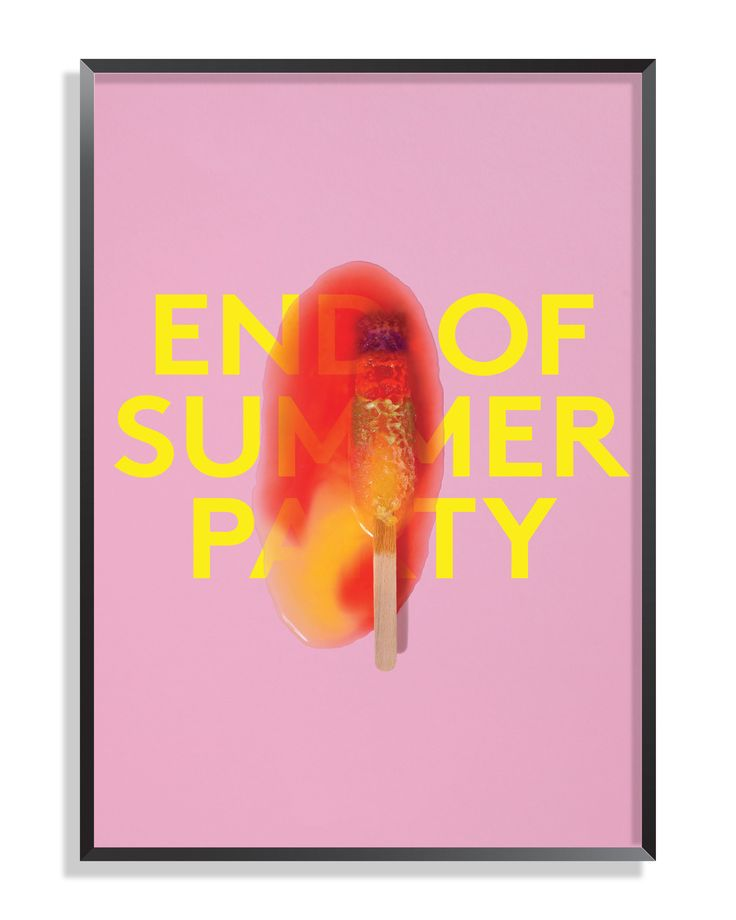 Purpose - End of Summer Party 2014, Poster.