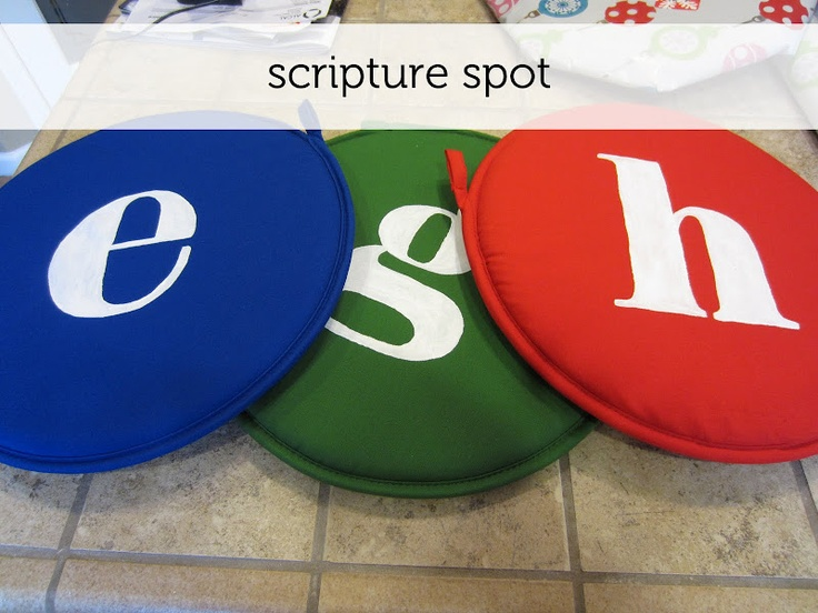 Great idea for family scripture timeChurch Ideas, Crafts Ideas, Church Stuff, Families Scriptures, Scriptures Reading, Scriptures Study, Scriptures Spots, Children Ministry, Reading Spots