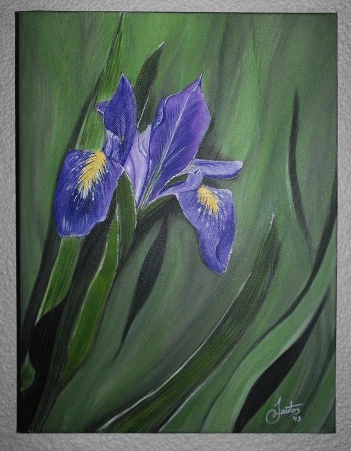 Iris - donation to NGO, Iris House - acrylic on canvas.