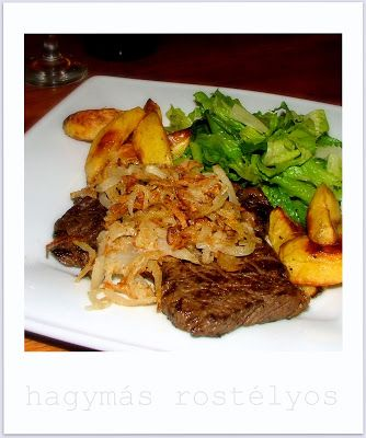 Tomakonyha: Hagymás rostélyos, tepsis steak-burgonyával és sal...