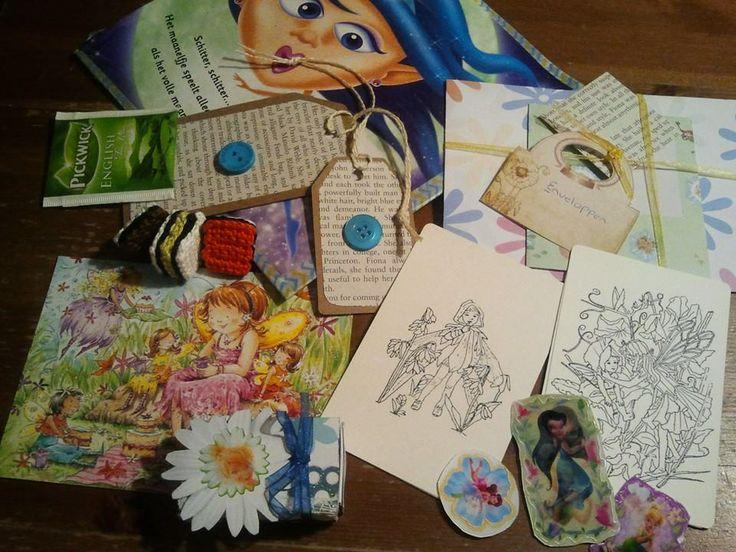 Letter E snail, Elfen, Engels, Enveloppen