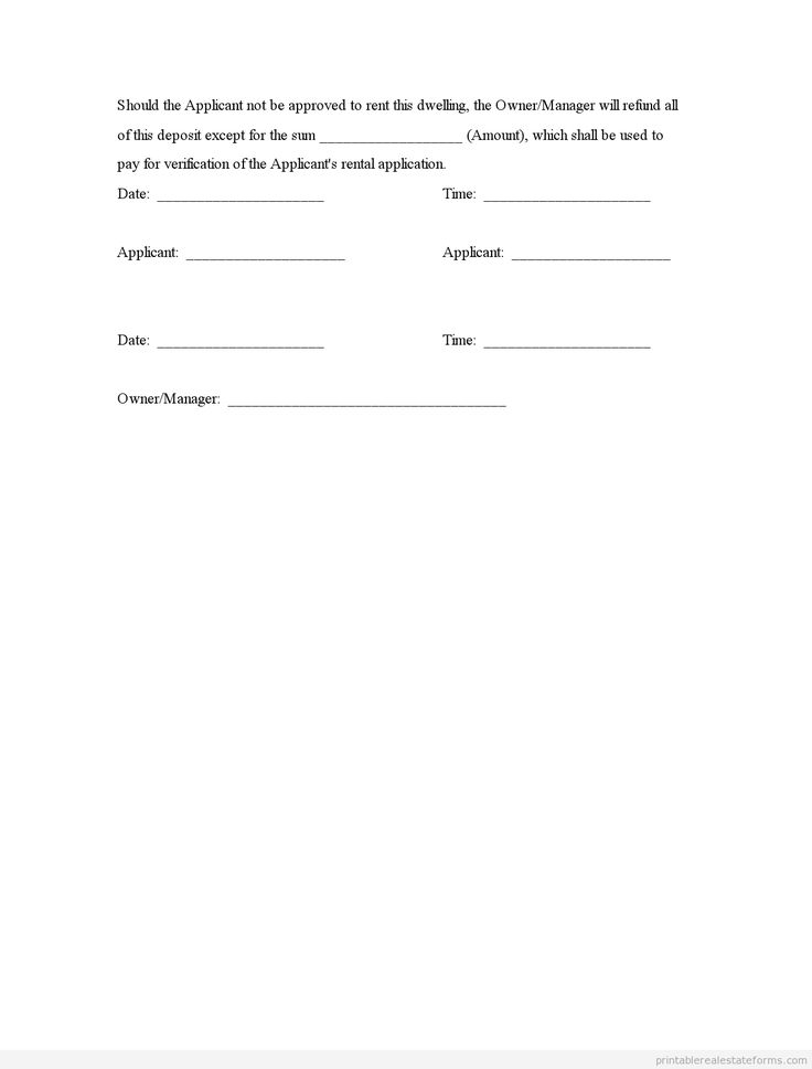 Earnest Money Deposit Agreement Template 28 Images Printable Contract In Form Of Earnest