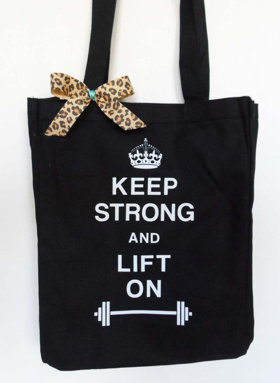 #Workout #Tote Keep Strong and Lift On  Gym by #NobullWomanApparel, for only $15.50! Click here to buy http://www.etsy.com/listing/157709561/workout-tote-keep-strong-and-lift-on-gym?ref=shop_home_active_3