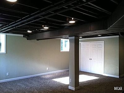 about exposed basement ceiling on pinterest basement ceiling painted