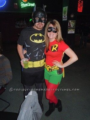 Homemade Couples Batman and Robin Costumes... This website is the Pinterest of costumes