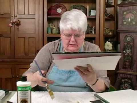 How to use Jo Sonja's Clear Glaze Medium - YouTube