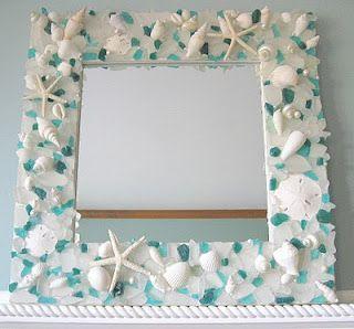 oooooooh i could use my sea glass && shells for my bathroom mirrors! I'M DOING THIS