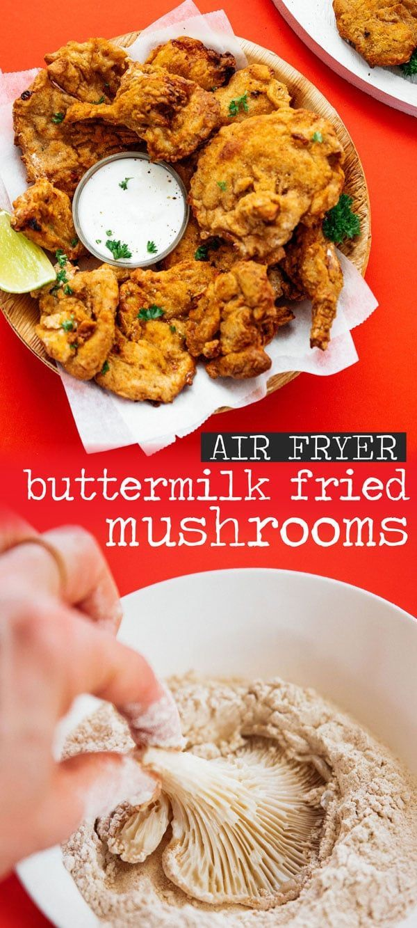 Buttermilk Fried Mushrooms Vegetarian Fried Chicken Recipe Fried Mushrooms Fried Mushroom Recipes Mushroom Recipes Vegan