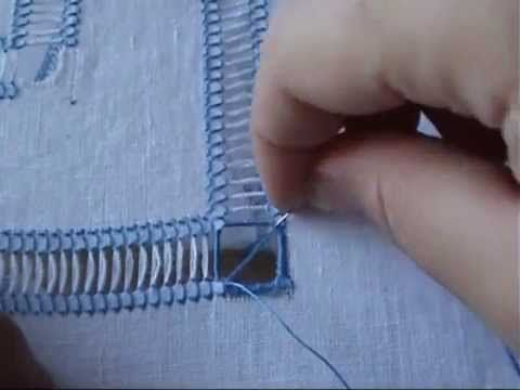 Come rifinire un angolo parte2 - tutorial ricamo
