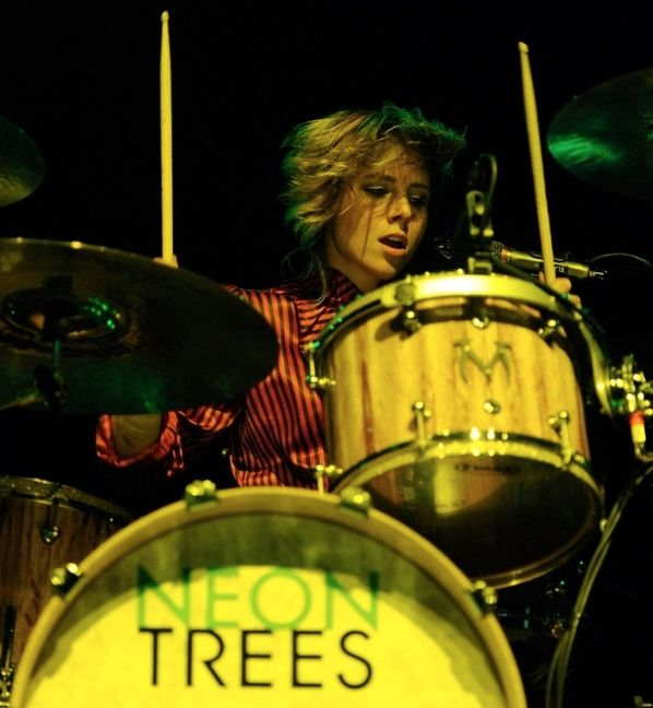 Elaine Bradley Neon Trees  Fun Fact: Elaine is originally from Utah and an active member of the Mormon Church