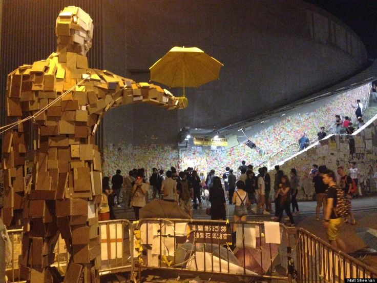 Umbrella Man by artist Milk - as part of the Hong Kong protest movement.