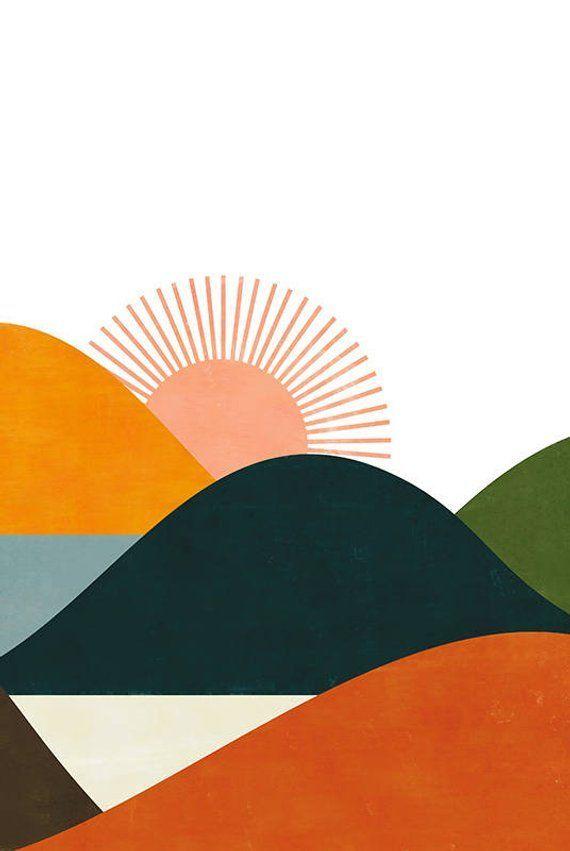 Landscape print – #ilustration #Landscape #PRINT