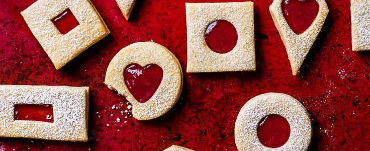 This posh Jammie Dodger recipe gives a childhood favourite biscuit an update, it's our February issue cover and a really impressive tea time snack