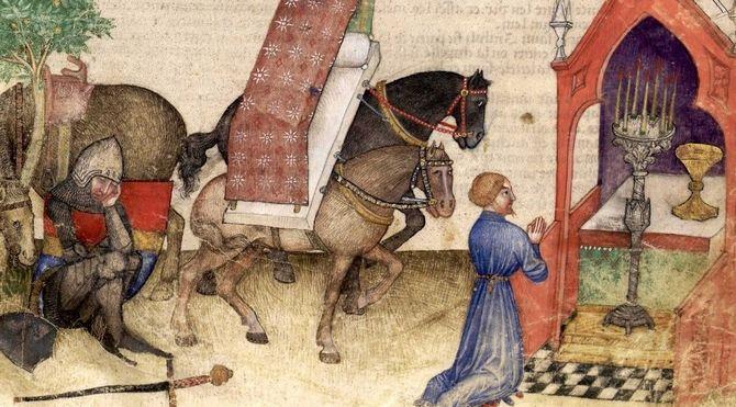 Lancelot à la chapelle du Graal Détail