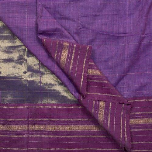 TaanBaan Handwoven Pure Zari Khadi Cotton Sari