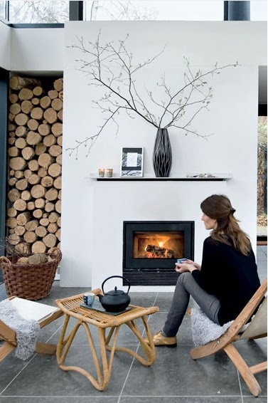 idea for outside fireplace