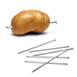 POTATO BAKING NAILS. Reduce Baking Time For Potatoes, Yams And More! Sturdy  Aluminum