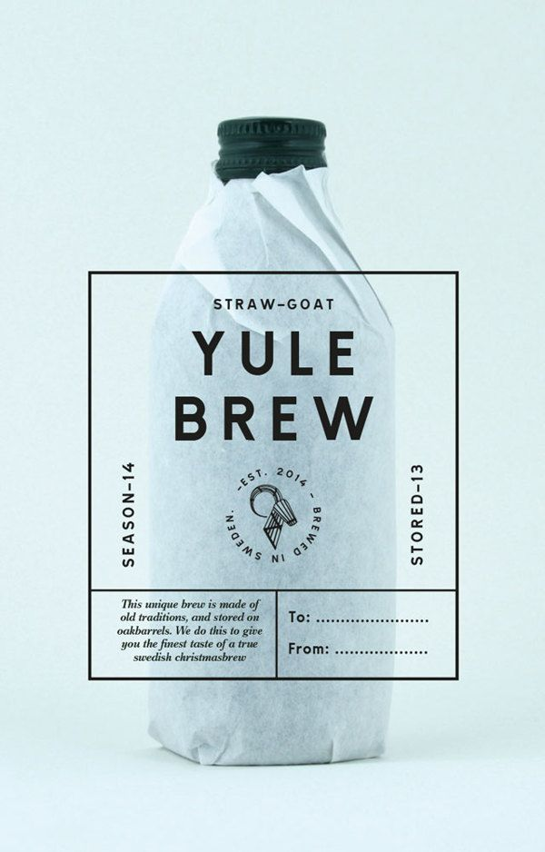 STRAW-GOAT YULEBREW by Michael Söderqvist-Waag, via Behance -- Sounds tasty!