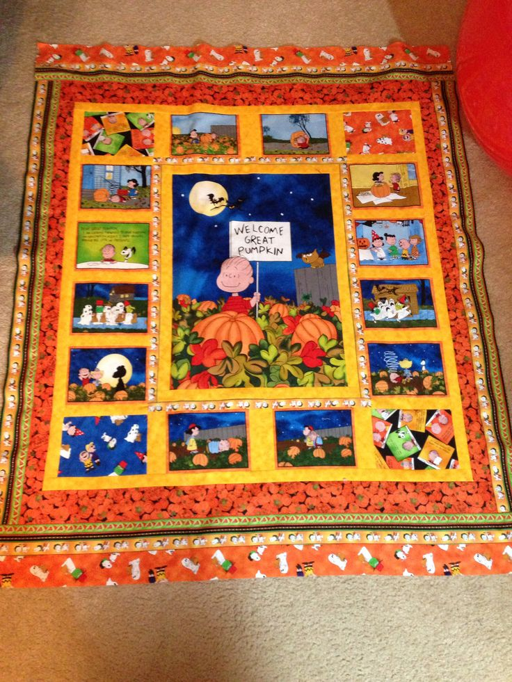 Peanuts Great Pumpkin baby quilt for my granddaughter | My ...