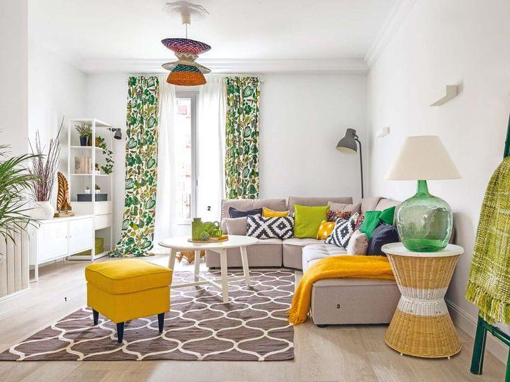 Una casa decorada con un equilibrado juego de colores