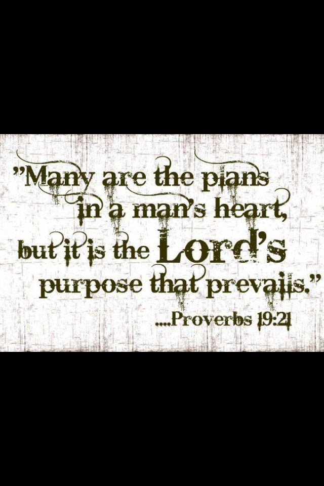 Proverbs 19:21   getting this tattooed on me, my favorite bible verse, i found it after going through a terrible time in my life and never thought i'd be happy again