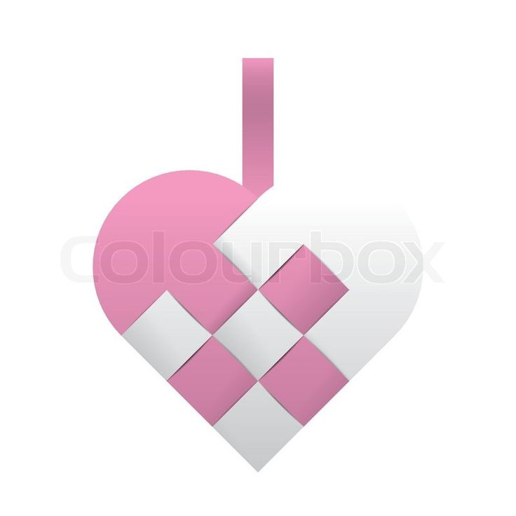 Pink and white braided christmas heart | Vector | Colourbox on Colourbox