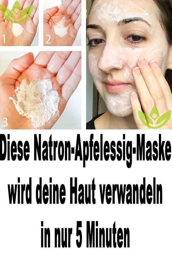 Diese Natron-Apfelessig-Maske wird in nur 5 Minuten deine Haut verwandeln  – Gesundheit und schönheit